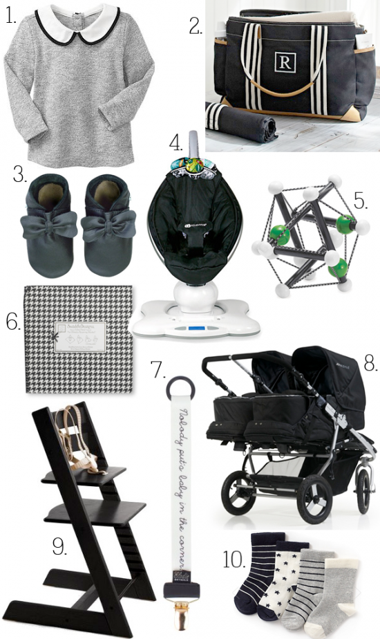 boxwood clippings_10 black + white baby items