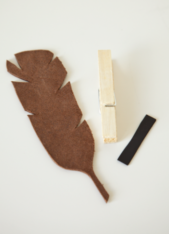 boxwood clippings_diy feather magnets