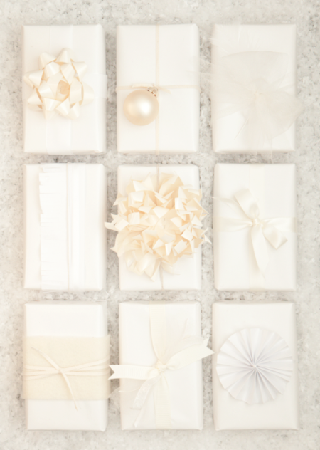 boxwood clippings_white and cream giftwrap