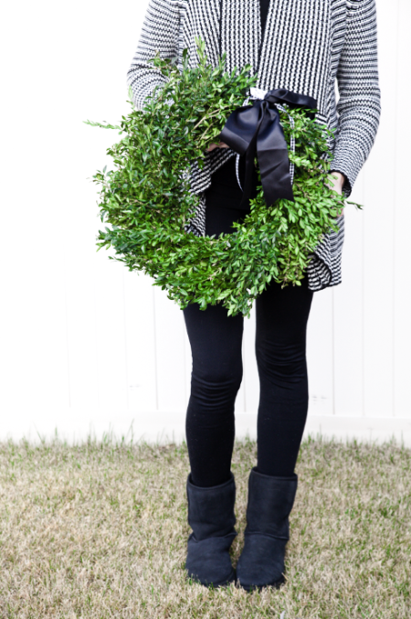 boxwood clippings_boxwood wreath