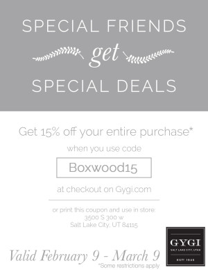 Boxwood-Clippings- Gygi Coupon 1