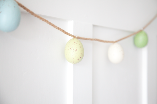 boxwood clippings easter egg garland