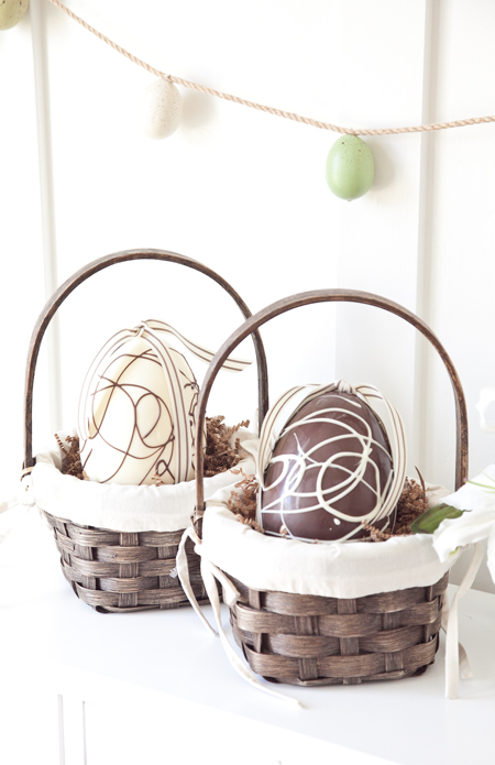 boxwood clippings chocolate easter eggs