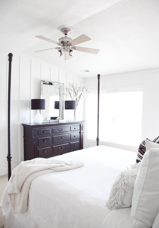 Boxwood clippings blog archive sarah s master bedroom makeover reveal Modern chic master bedroom
