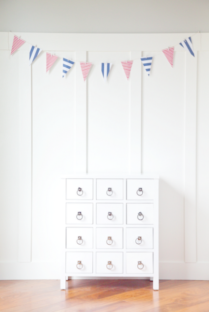 DIY Simple Patriotic Garland | Boxwood Clippings