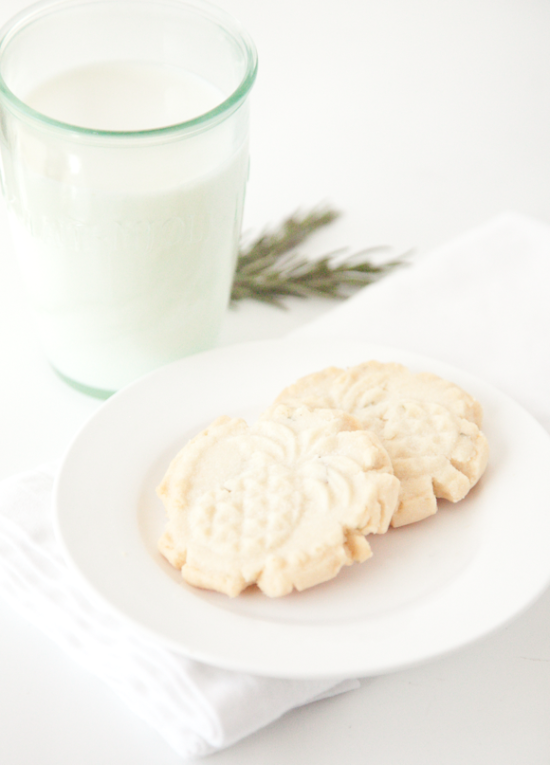 boxwood clippings | rosemary shortbread