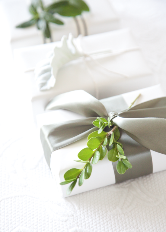 boxwood clippings | garden clippings gift wrap