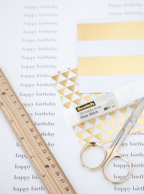 boxwood clippings | easy birthday card diy