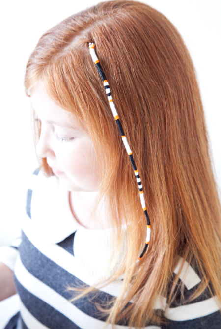 boxwood clippings | halloween hair wrap tutorial