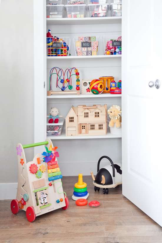 boxwood clippings | toy closet organization