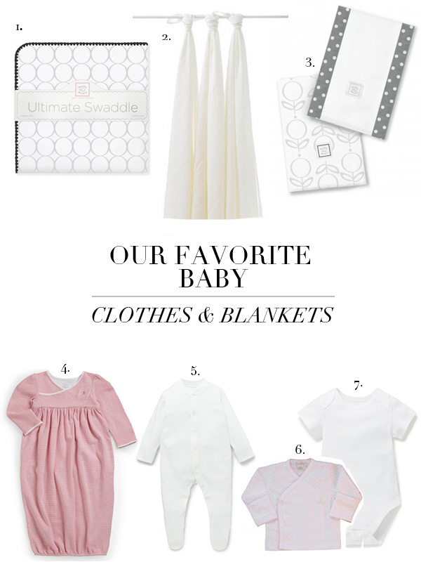 boxwood clippings | favorite baby clothes and blankets