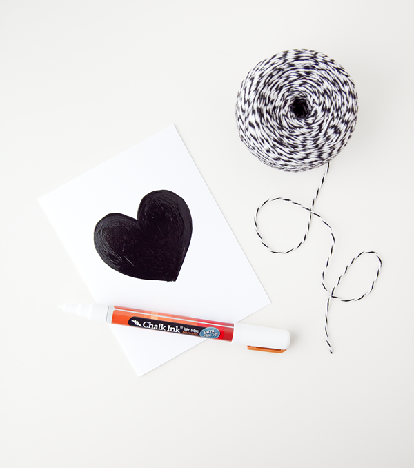 boxwood clippings | chalk hearts valentine card