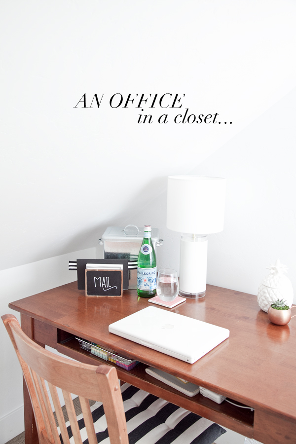 boxwood clippings | office in a closet