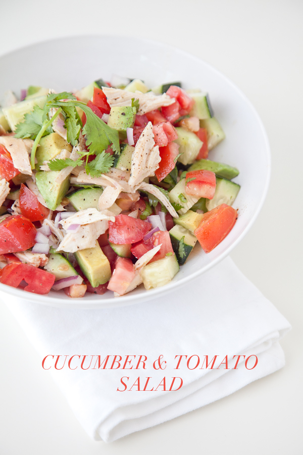 boxwood clippings | cucumber and tomato salad