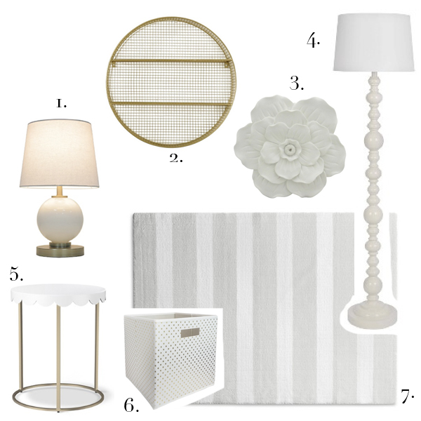 target tuesday | white lamp