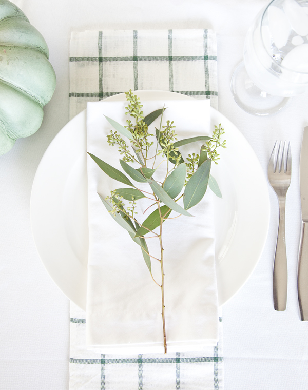 boxwood clippings | fall placesetting