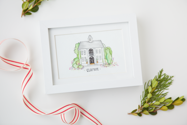 boxwood clippings | custom house portrait