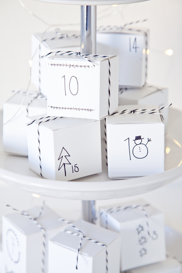 Boxwood clippings | diy advent calendar