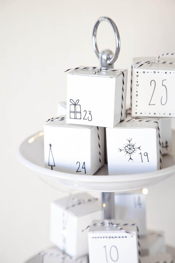 boxwood clippings | diy advent calender of boxes