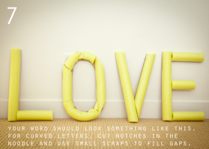 Coffee Filter Letters Tutorial on { lilluna.com } Such a fun way to display your favorite word!