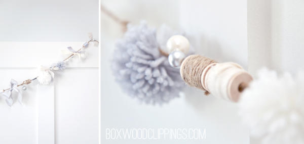 How to make this super cute Christmas Wreath and Garland!! Very simple and elegant!!