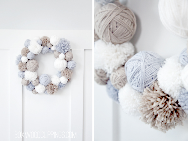 How to Make this super cute Christmas Wreath & Garland. Pretty easy to make and few supplies needed.