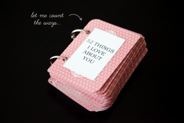 Boxwood Clippings » Blog Archive » Gift Idea: Deck of Cards, 52 Things I  Love about You